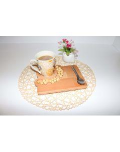 Modülya Kahve Sunum Tabağı- 1 - Servis Tabağı - Bambu Tabak