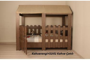 Mocha Çatılı Montessori Karyola